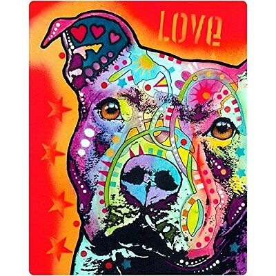 Thoughtful Pit Bull Love Dog Dean Russo Pop Art Wall Decal 12 x 16