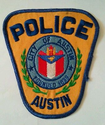 Vintage CITY OF AUSTIN (USA) POLICE PATCH fabric embroidered sew on
