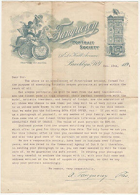 American 1891 Art Mail Fraud Promotion Letter : Tanqueray Portrait Society