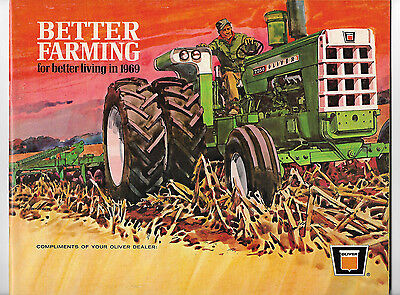 1969 Oliver Better Farming Brochure 2150 1950-T 2050 1850 1750 1650 1550 Tractor