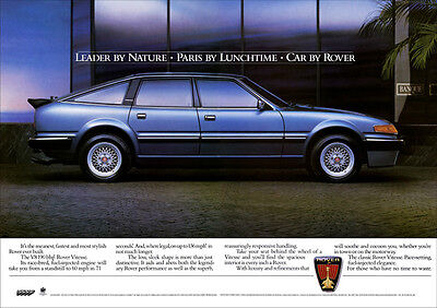 ROVER SD1 VITESSE V8 RETRO A3 POSTER PRINT FROM CLASSIC 80's ADVERT