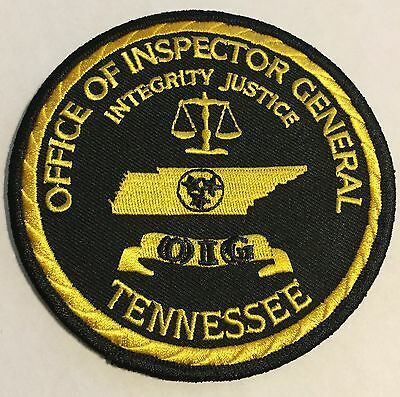 Vintage Office of Inspector General Tennessee TN Tenn Police Sheriff Patch