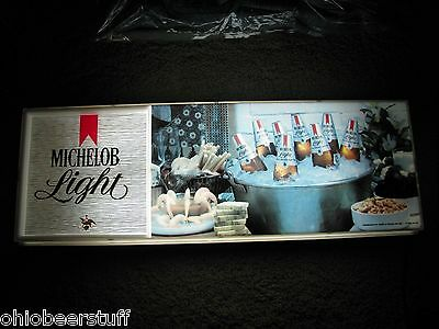 Vintage 1979  Michelob Lighted Beer Sign Light Anheuser Busch Brewing St. Louis