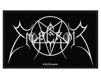 Official Licensed - Emperor - Logo Pentagram Woven Sew-On Patch Black Metal