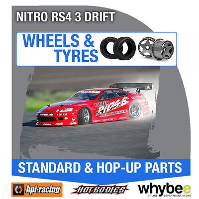 HPI NITRO RS4 3 DRIFT [Wheels & Tyres] Genuine HPi 1/10 R/C Scale!