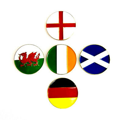 "National Flag Golf Ball Marker Different Countries Please Choose ""NEW"""