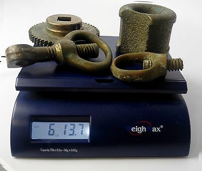 Industrial Brass Lot - Steampunk - Gear, Turnbuckles, Large Eyelet/Rope Guide