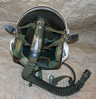 Rare & Used China Chinese Army TK-2A Pilot Flight Helmet with Oxygen Mask