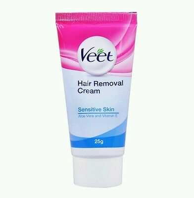 2 x Veet Hair Removal Cream Sensitive Skin 25g - Legs,Arms,Underarms,Bikini Line