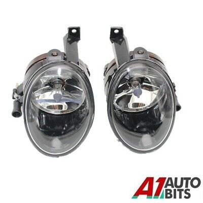 NEW UK VW Golf MK6 Jetta Caddy Front Fog Light Lamp Lens Pair N/S O/S 2009 2012