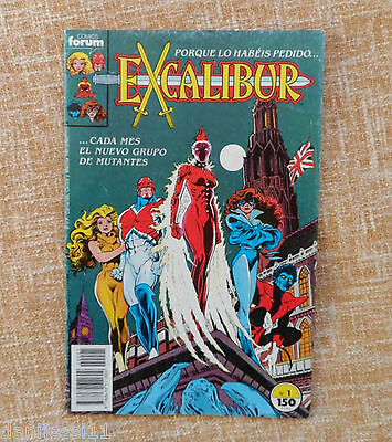 Comic, Excalibur, nº 1, Forum Comics, Planeta DeAgostini, 1989, Chris Claremont