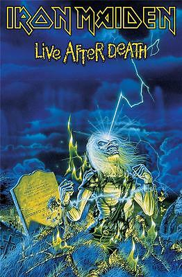 Official Licensed - Iron Maiden - Live After Death Textile Poster Flag Metal