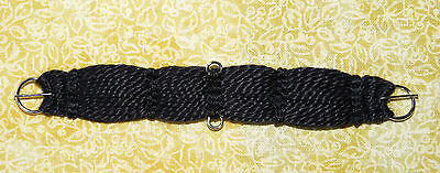 Unicorn Woman's Hand Woven Western Girth Cinch Black 1/9 Scale Breyer Stone