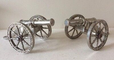 Silver Plated Cannons Miniature