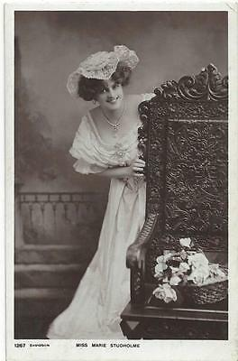 Edwardian Actress Marie Studhome 1905  Real Photo Postcard
