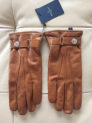 Hackett London Tan Leather Gloves, Size L, New With Tag
