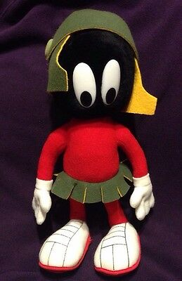 "Marvin The Martian Looney Toons Plush 13"" Posable 24K Company 1993 Toy"