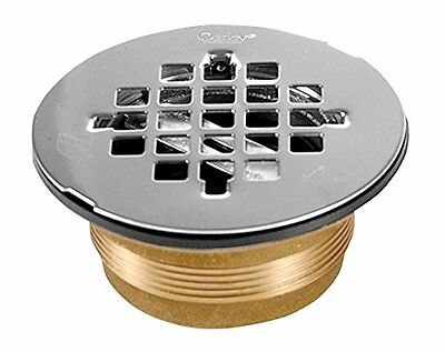 Oatey 42150 140 NC Brass NO-CALK Shower Drain with Stainless Steel Strainer, 2-I