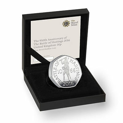 The Royal Mint 950th Ann. of Battle of Hastings 2016 50p Silver Coin - UK16BHPF