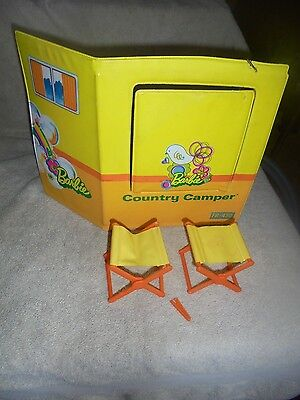 1970 Barbie Country Camper Donor Replacement 4994 Back Panel Fold Out Chair Clip