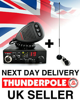Thunderpole T-800 + Apollo Mag Kit | 12v AM/FM CB Radio & Antenna Pack Complete