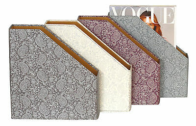 Gold & Pewter Paisley A4 Magazine File Holder
