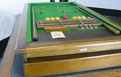 A Vintage 1930s Fulcrum London Table Top Billiards Table with all Accessories