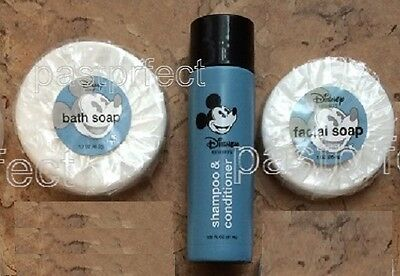 Disney World WDW Lot 3 MICKEY SOAP Retired Bath Facial Bottle BUY 2 GET 1 FREE