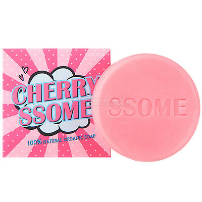 Yurica Cherry Ssome 100% Natural Organic Soap With Bubble Net