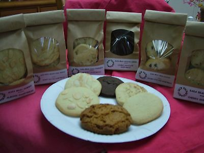 Home made Cakes,Biscuits,Jams+Pickles - 6 assorted packs of homemade biscuits