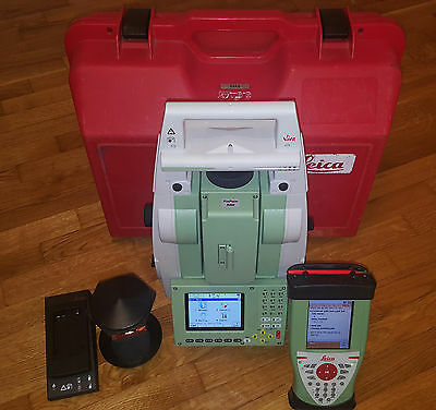 "Leica TS12 7"" Robotic Total Station, Leica CS10 controller and 360* Prism."