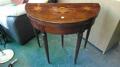 Stunning Reproduction Inlaid Hall Card Table - Need of Repair