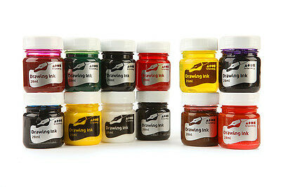 Brian Clegg Art & Craft Drawing Ink Individual Colours 28ml Bottles