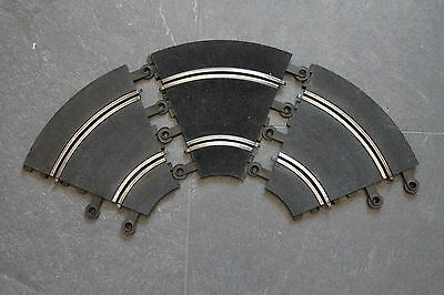 Scalextric 3X Pt52 C152 Half Inner Hairpin Curves Good Condition Shiny Rails