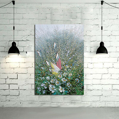 Hand-painted Abstract Butterfly canvas oil painting wall art home decor