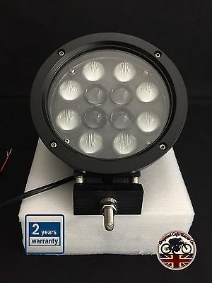 "Land Rover Defender LED CREE 5100 Lumens 60W 7"" x 1 Driving Spot Light Black"