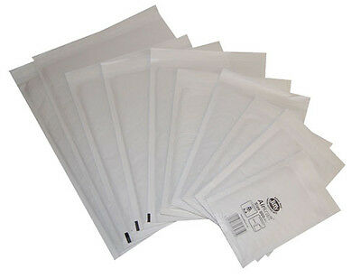 White Jiffy Airkraft Bubble Lined Padded Envelope Mailer Mailing Bag - All Sizes