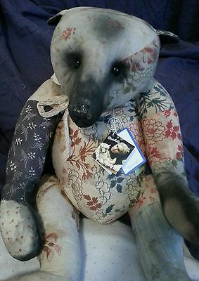 Amy Goodrich DEAREST PATCHES Portobello Bear 60cm OOAK. Exclusive. Amazing!