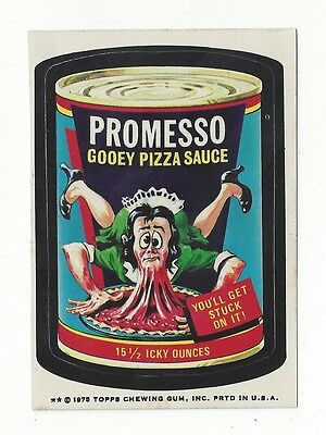 1975 Topps Wacky Packages 14th Series 14 PROMESSO PIZZA SAUCE tb nm- o/c