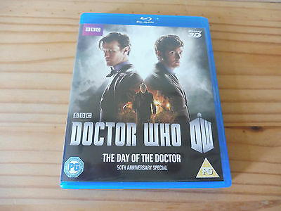 """Doctor Who -""""the Day Of The Doctor"""", 50Th Anniversary Special Blu-Ray 3D, New !"""