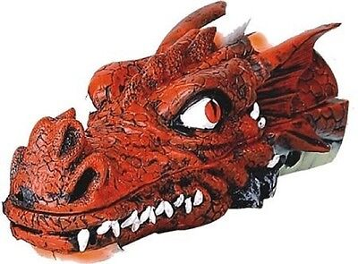 "Dragon Head Stick Incense Holder Burner 11"" L (Red)"