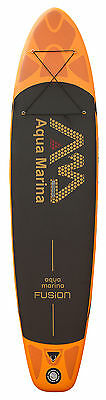 "Aqua Marina FUSION Inflatable Stand Up PADDLE BOARD 10' 10"" with Carbon Paddle"