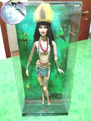BARBIE AMAZONIA DOLLS OF THE WORLD NRFB - model muse doll Collection Mattel