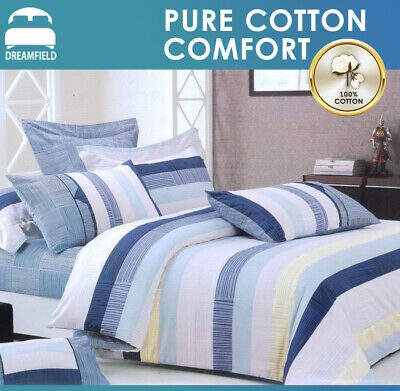 100% Cotton Single/Double/Queen/King Size Bed Doona/Quilt/Duvet Cover Set