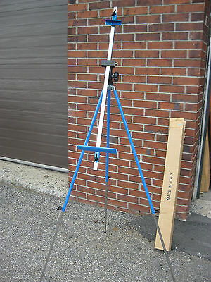 NEW Blue Plein Air Folding Metal Easel,for Painting or Camera Easel (Fome Italy)