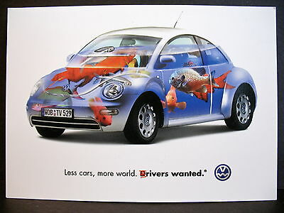 "Advertising Postcard - Volkswagen - "" D rivers wanted"""