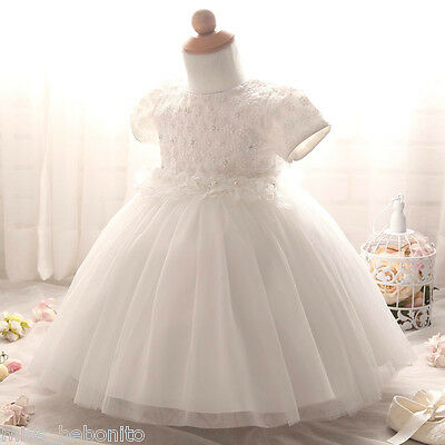 Edna Baby Girl Christening Baptism Gown Formal Lace Dress Wedding Shower Gift