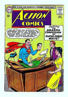 """Action Comics (#280,282,302,305) - (4 Issue """"silver Age"""" Lot) - Dc Comics"""