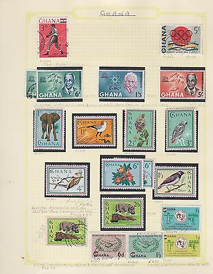 GHANA 1964-74 12 album pages mint & used