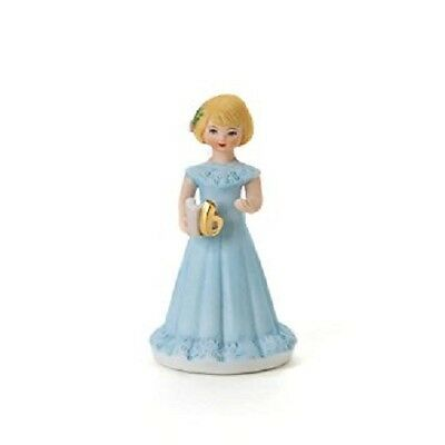 Enesco Growing Up Birthday Girls Blonde Porcelain Figurine Age 6 Girl with Box